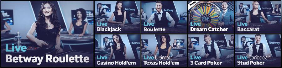 betway live casino