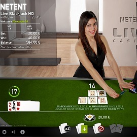 live blackjack by netent